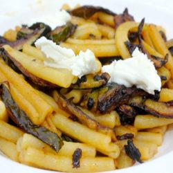 Caserecci con Zucchine e Caprino (Goat Cheese)