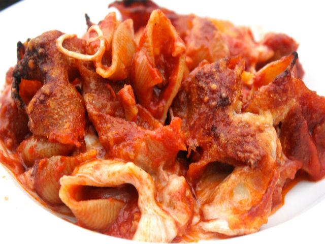 Sunday Pasta Conchiglie Integrale con Salsiccia e Mozzarella al Forno Garrubbo Guide