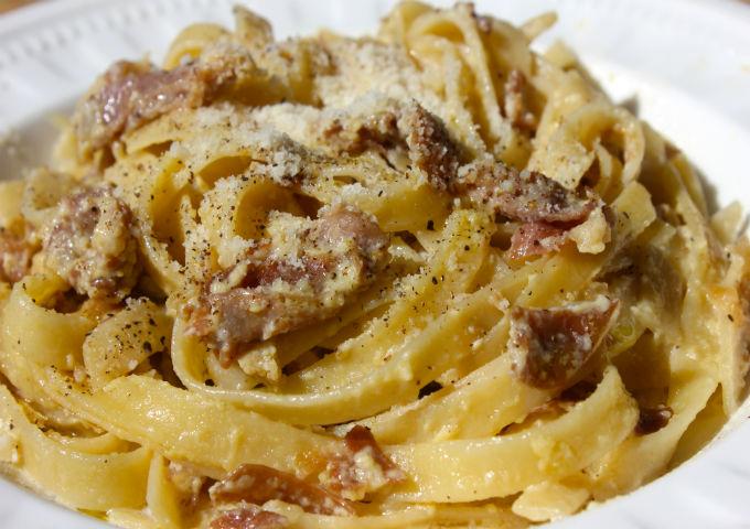 Sunday Pasta Fettuccine alla Papalina 640