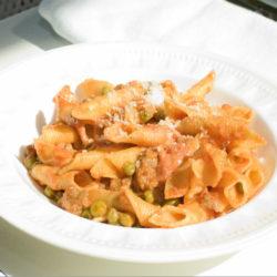 Garganelli con Salciccia e Piselli (Sausage and Peas)