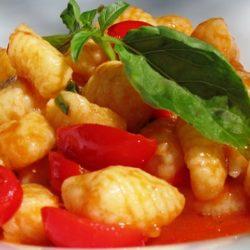 Gnocchi con Pomodorini e Basilico (Cherry Tomatoes and Basil)