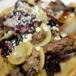 Orecchiette con Radicchio e Salsiccia