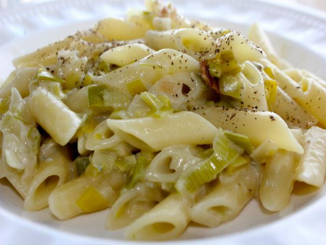 Sunday Pasta Penne ai Porri e Gorgonzola Garrubbo Guide