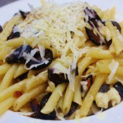 Pennette con le Olive Nere e Pecorino (Black Olives)