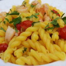 Riccioli al Limone con Gamberi (Lemon and Shrimp)