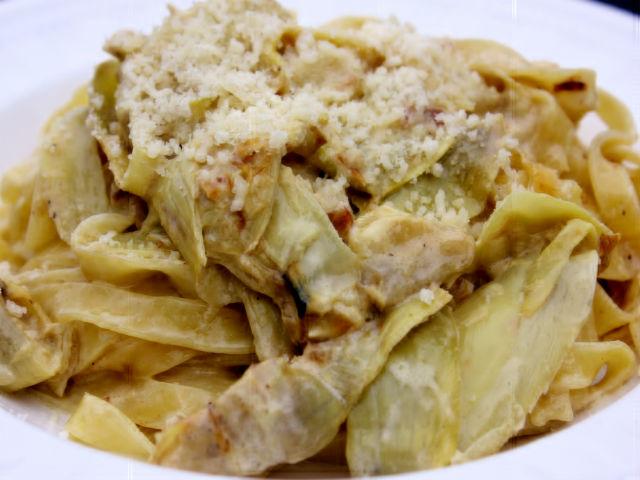 Sunday-Pasta-Tagliatelle-ai-Carciofi-garrubbo-Guide