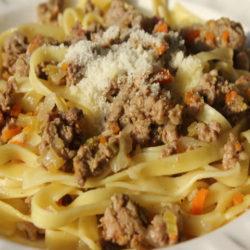 Tagliatelle con Ragu Bianco (Meat Sauce)