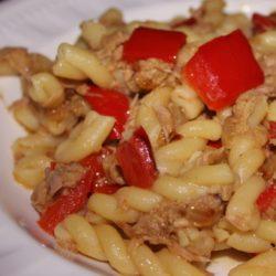 Fusilli con Tonno e Peperoni (Tuna and Red Peppers)