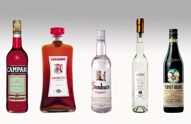 Italian liquors categories types for Great alcoholic mixed drinks