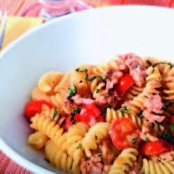 Fusilli con Tonno e Pomodorini (Tuna and Cherry Tomatoes)